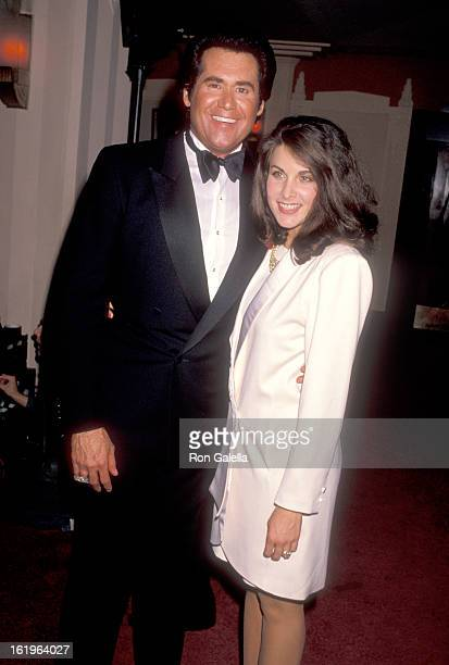 Entertainer Wayne Newton and Actress Marla Heasley attend the 25th Annual Academy of Country Music Awards on April 25 1990 at the Pantages Theatre in...