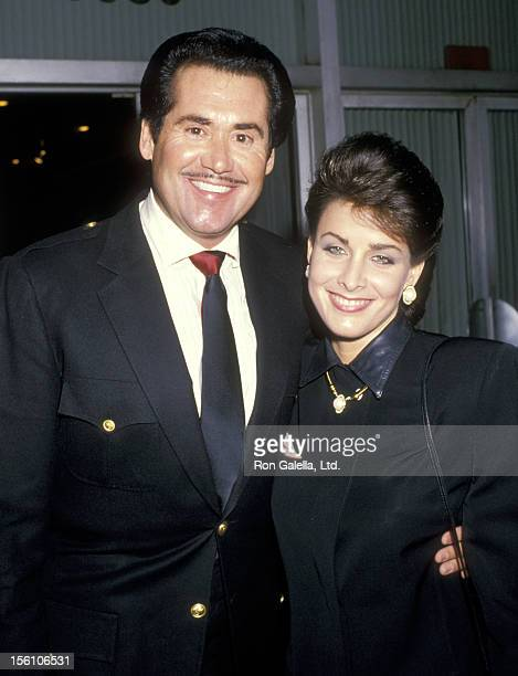Entertainer Wayne Newton and Actress Marla Heasley attend the 40th Annual Writers Guild of America Awards on March 18, 1988 at Beverly Hilton Hotel...