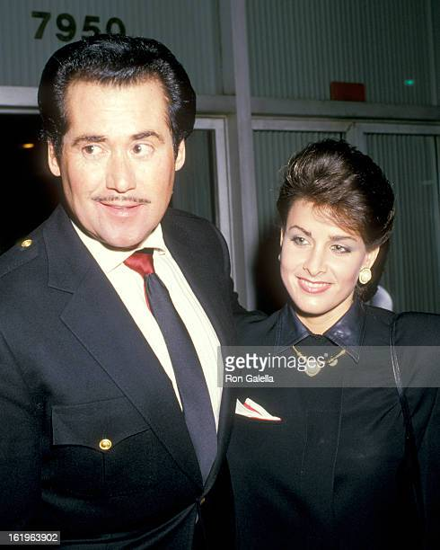Entertainer Wayne Newton and Actress Marla Heasley attend the 40th Annual Writers Guild of America Awards on March 18 1988 at Beverly Hilton Hotel in...