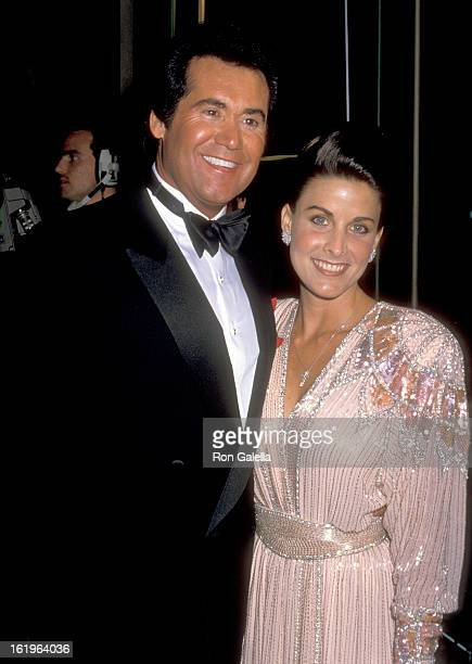 Entertainer Wayne Newton and Actress Marla Heasley attend the 47th Annual Golden Globe Awards on January 20 1990 at Beverly Hilton Hotel in Beverly...