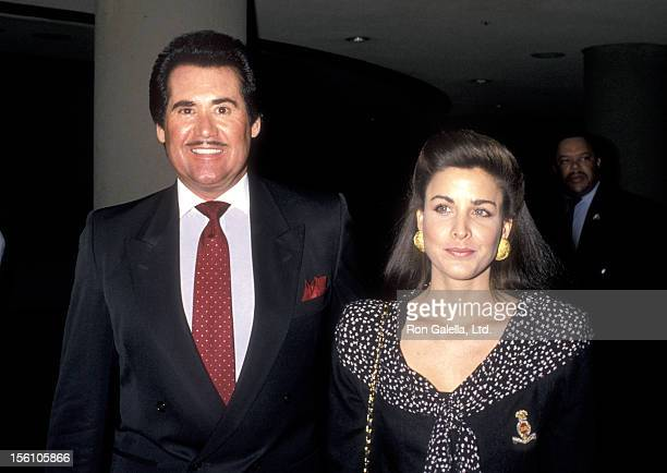 Entertainer Wayne Newton and Actress Marla Heasley attend the West Coast Father's Day Council's Fathers of the Year Awards Luncheon on June 6, 1989...