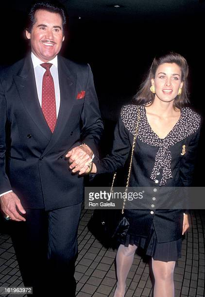 Entertainer Wayne Newton and Actress Marla Heasley attend the West Coast Father's Day Council's Fathers of the Year Awards Luncheon on June 6 1989 at...