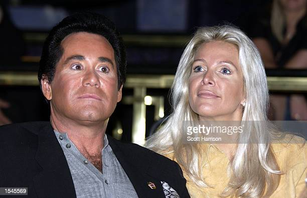 Entertainer Wayne Newton and his wife Kathleen listen during a press conference announcing the 1st Annual Las Vegas Comedy Festival at the Stardust...