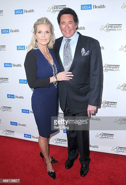 Entertainer Wayne Newton and his wife Kathleen McCrone arrive at the UCLA Head Neck Surgery Luminary Awards held on January 22 2014 at Regent Beverly...