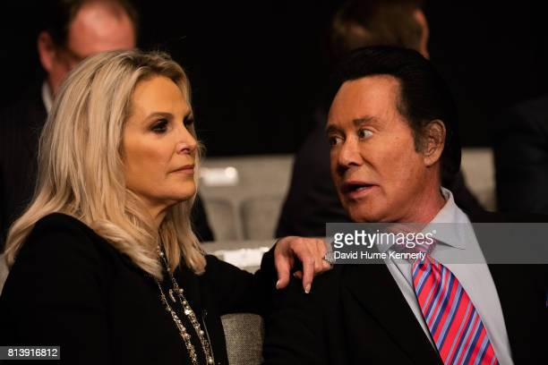 Entertainer Wayne Newton and his wife Kathleen McCrone at the third presidential debate between Democratic nominee Hillary Clinton and Republican...