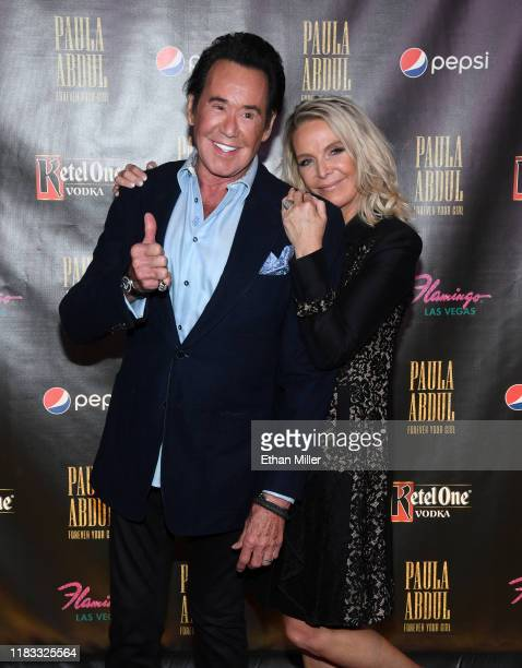 Entertainer Wayne Newton and his wife Kathleen McCrone attend the official opening of Paula Abdul's Flamingo Las Vegas residency Paula Abdul Forever...