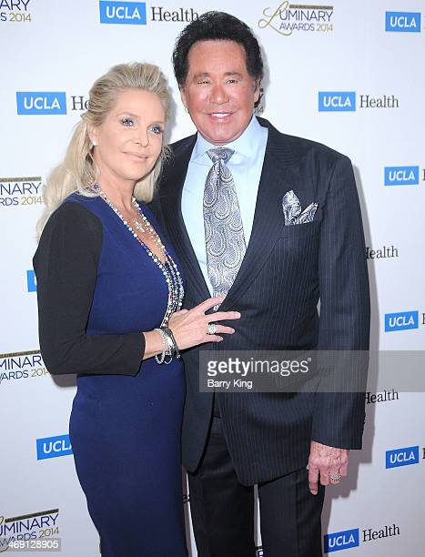 Entertainer Wayne Newton and his wife lawyer Kathleen McCrone arrive at the UCLA Head Neck Surgery Luminary Awards held on January 22 2014 at Regent...