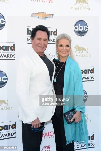 Entertainer Wayne Newton and Kathleen McCrone arrive at the 2013 Billboard Music Awards at the MGM Grand Garden Arena on May 19 2013 in Las Vegas...