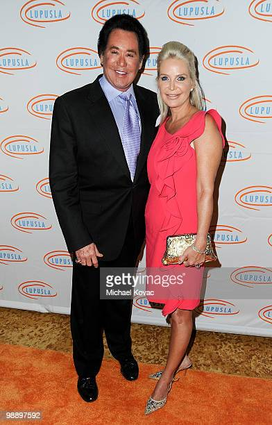 Entertainer Wayne Newton and wife Kathleen McCrone arrive at the 10th Annual Lupus LA Orange Ball at the Beverly Wilshire Four Seasons Hotel on May 6...