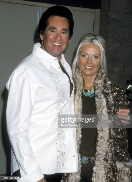 Entertainer Wayne Newton and wife Kathleen McCrone attend the 12th Annual Billboard Music Awards on December 4 2001 at MGM Grand Garden Arena at MGM...