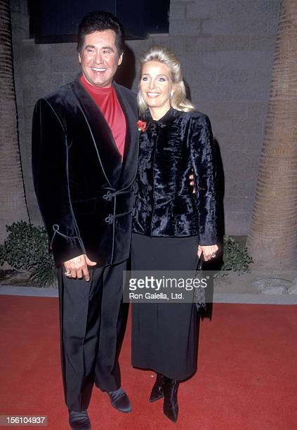 Entertainer Wayne Newton and wife Kathleen McCrone attend the Eighth Annual Billboard Music Awards on December 8 1997 at MGM Grand Garden Arena at...