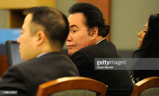 Entertainer Wayne Newton appears at a court hearing at the Clark County Regional Justice Center on August 1 2012 in Las Vegas Nevada Newton and...