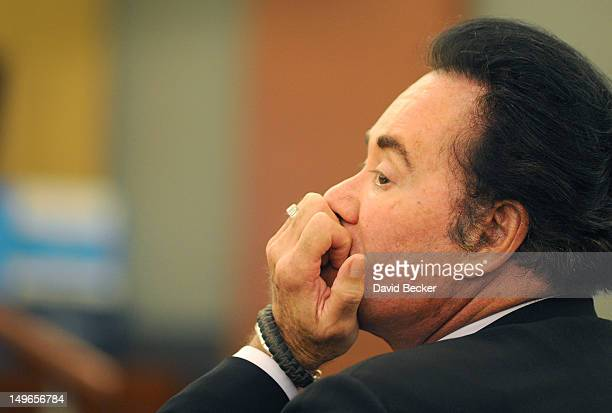Entertainer Wayne Newton appears at during a court hearing at the Clark County Regional Justice Center on August 1 2012 in Las Vegas Nevada Newton...