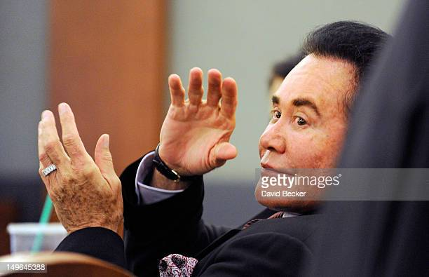 Entertainer Wayne Newton appears during a court hearing at the Clark County Regional Justice Center on August 1 2012 in Las Vegas Nevada Newton and...