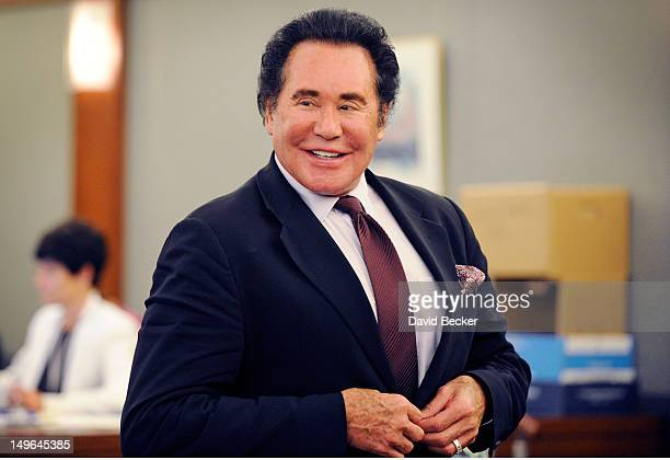 Entertainer Wayne Newton appears during a court recess at a court hearing at the Clark County Regional Justice Center on August 1 2012 in Las Vegas...