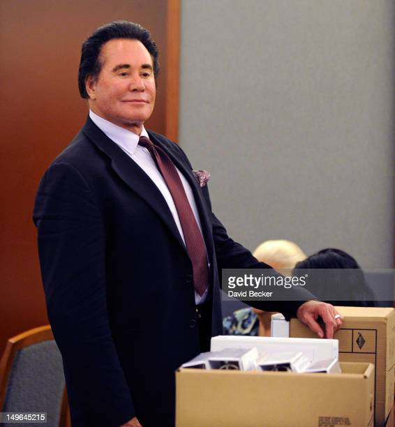Entertainer Wayne Newton appears during a court recess during a court hearing at the Clark County Regional Justice Center on August 1 2012 in Las...