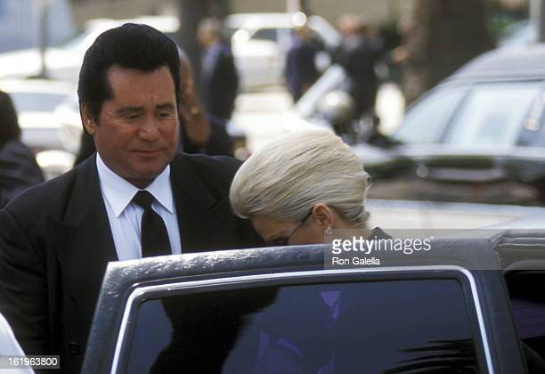 Entertainer Wayne Newton attends the Funeral Service for Frank Sinatra on May 20 1998 at Little Shepherd Catholic Church in Beverly Hills California