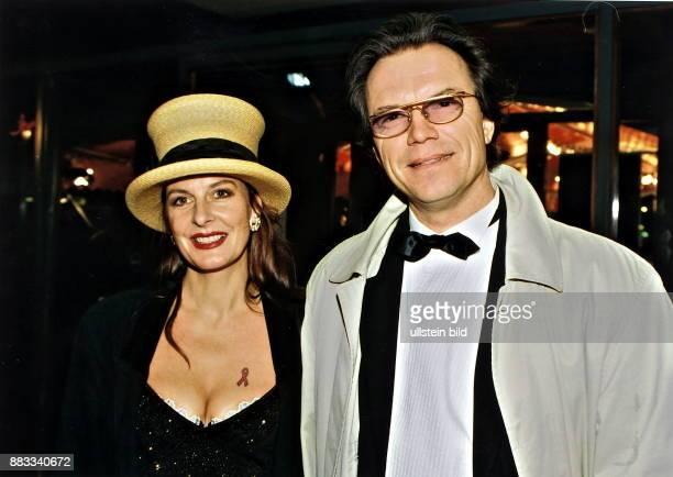 Entertainer Wolfgang Lippert and his companion Kirsten Kuehnert,