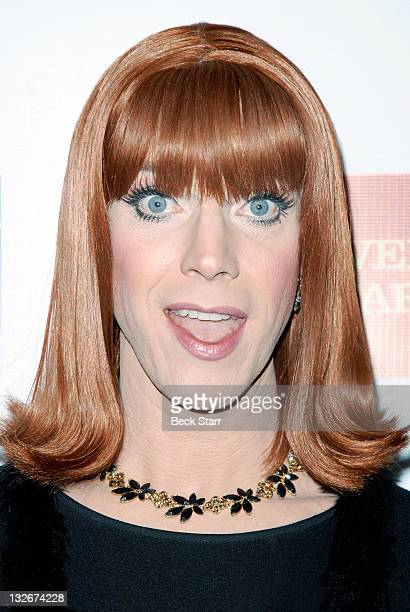 """Entertainer/actress Coco Peru arrives at The L.A. Gay & Lesbian Center's """"40 Years of Family"""" gala at Westin Bonaventure Hotel on November 12, 2011..."""