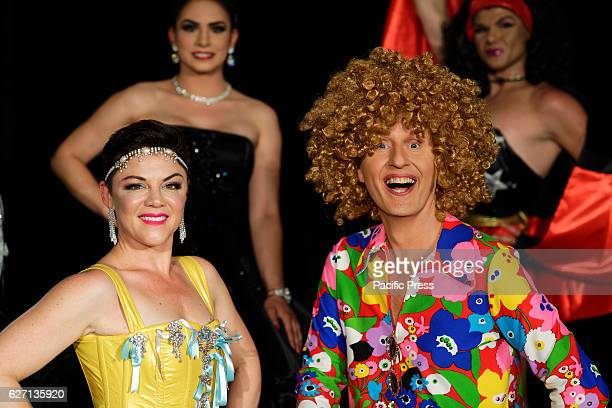 Entertainers Emelia 'Em' Rusciano and Bob Downe pictured following the announcement of the full line up of over 80 events for the 2017 Sydney Gay and...