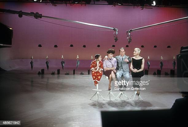 Entertainers Martha Raye and Perry Como on the TV show Perry Como's Kraft Music Hall in New York