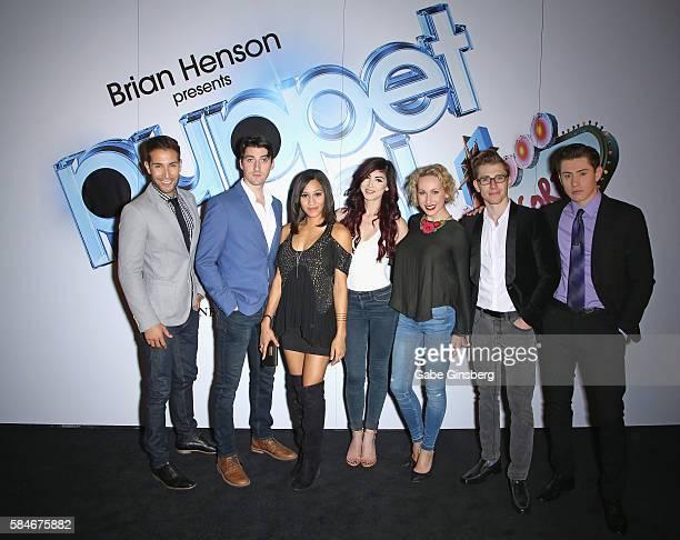 Entertainers Nick Petris Skye Scott Joanna Jones Briana Cuoco Tiffany O'Connor Payson Lewis and LJ Benet of BAZ Star Crossed Love attend Brian Henson...