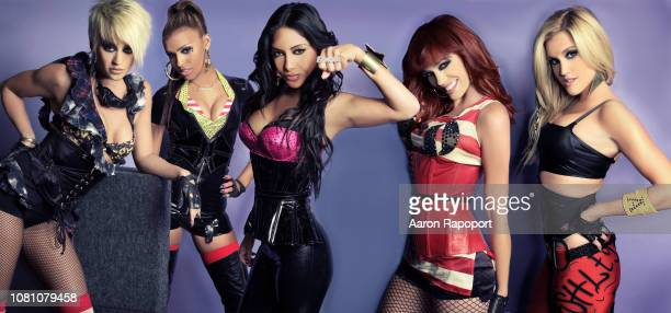 Entertainers Pussycat Dolls pose for a portrait circa 2008 in Los Angeles California