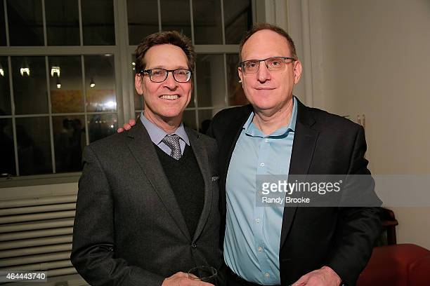Entertainment attorney Steven Beer and FilmRise CEO Danny Fisher attend FilmRise Celebrates new office in Industry City Brooklyn at FilmRise on...