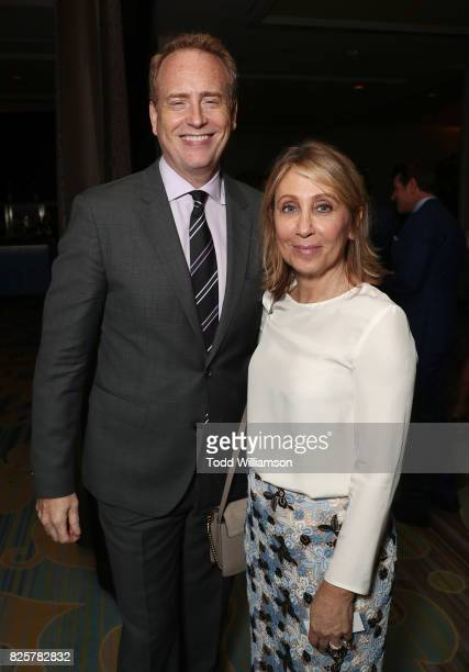 Entertainment Chairman Robert Greenblatt and CEO of 20th Century Fox Stacey Snider attend the Hollywood Foreign Press Association's Grants Banquet at...