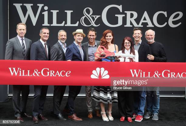 NBC Entertainment Chairman Robert Greenblatt Los Angeles Mayor Eric Garcetti Creator David Kohan Creator Max Mutchnick Eric McCormack Debra Messing...