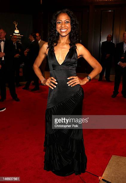 Entertainment correspondent Nischelle Turner arrives at The 39th Annual Daytime Emmy Awards broadcasted on HLN held at The Beverly Hilton Hotel on...
