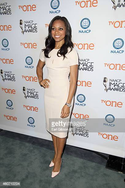 Entertainment Correspondent Nischelle Turner attends the 46th NAACP Image Awards Press Conference at The Paley Center for Media on December 9 2014 in...