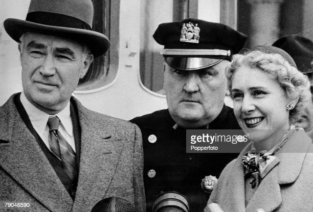 Entertainment, Diplomacy, pic: circa 1953, American playwright, legislator and diplomat Clare Boothe Luce, is pictured with her husband Henry Luce...