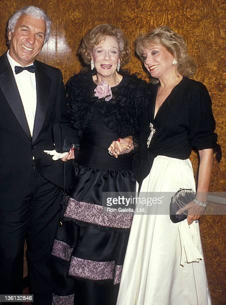 Entertainment executive Merv Adelson socialite Brooke Astor and TV journalist Barbara Walters attend the New York HospitalCornell Medical Center's...