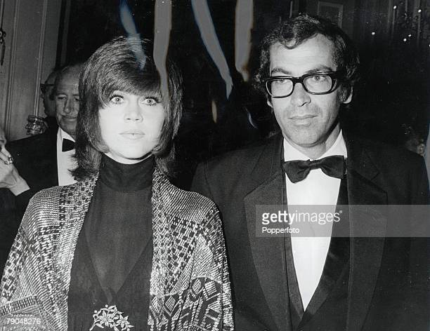 Entertainment, Films, Hollywood, USA, 28th April 1970, 42nd Academy Awards, French film director Roger Vadim with actress Jane Fonda