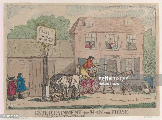 Entertainment for Man and Horse October 25 1788 Artist Thomas Rowlandson