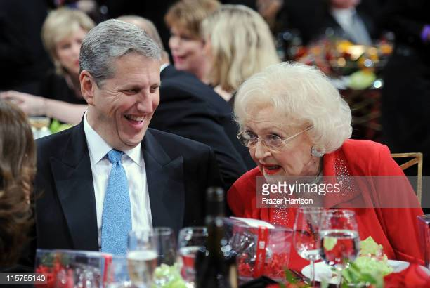Entertainment Group President Doug Herzog and actress Betty White in the audience at the 39th AFI Life Achievement Award honoring Morgan Freeman held...