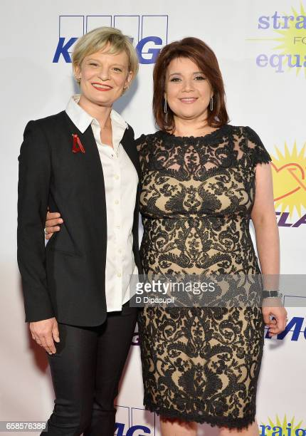 Entertainment Honoree, actress Martha Plimpton and Media Honoree, journalist Ana Navarro attend the ninth annual PFLAG National Straight for Equality...
