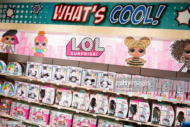 """Entertainment Inc. L.O.L. Suprise! dolls sit on display at a Toys """"R"""" Us Inc. Store in Paramus, New Jersey, U.S., on Tuesday, Nov. 26, 2019. The new..."""