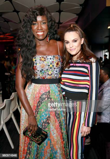 Entertainment journalist Gia Peppers arrives at the BET Her Awards Presented By Bumble at Conga Room on June 21 2018 in Los Angeles California