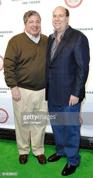 Entertainment Lawyer Allan Grubman and Barney Greengrass owner Gary Greengrass attend the Barney Greengrass celebration of 100 years on June 18 2008...