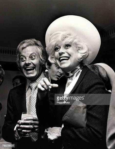Entertainment London England 9th June 1970 Female Impersonator Danny La Rue at a reception with American comedienne Carol Channing