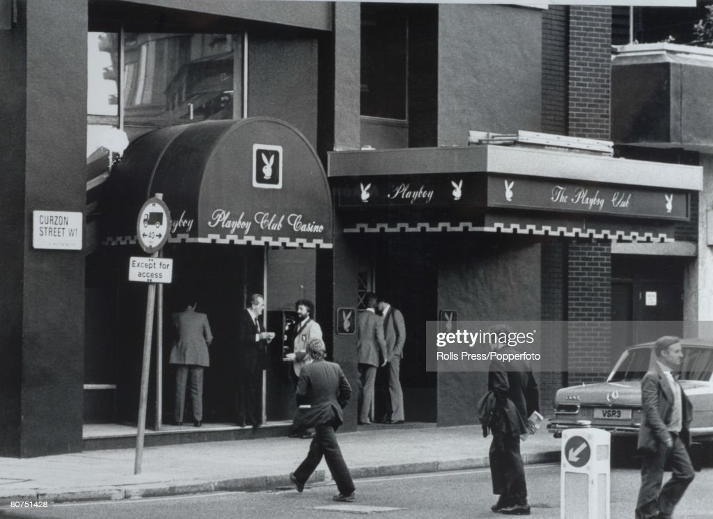 Entertainment London, England. 1981. The front enterance of the Playboy Club in Curzon Street. : News Photo
