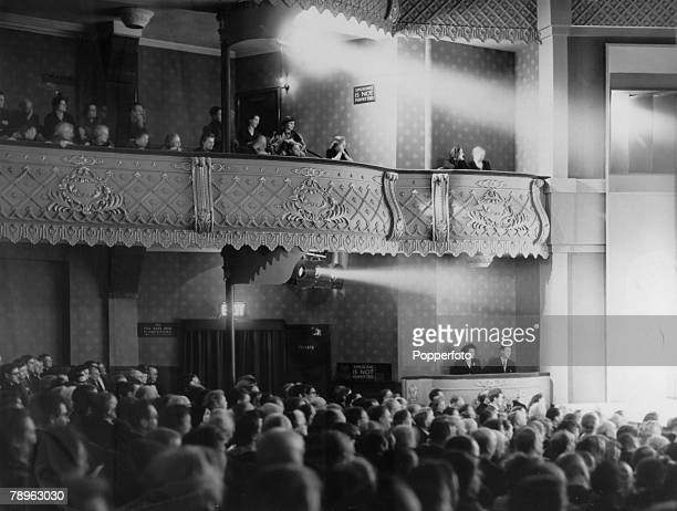 Entertainment London England The Old Vic Theatre A general view of the auditorium at the reopening of the theatre following World War Two bomb damage