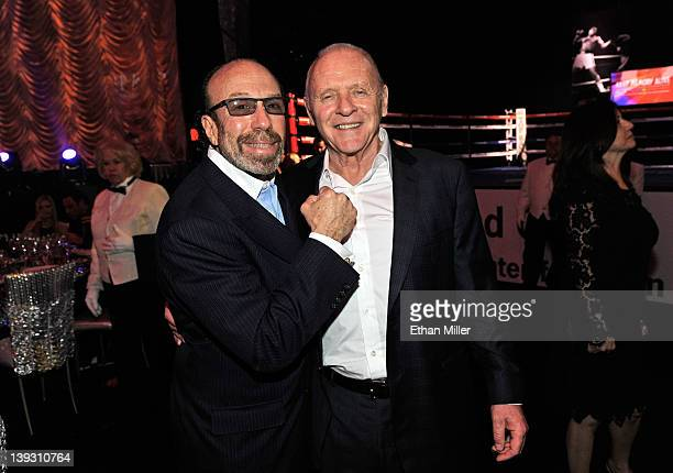 Entertainment manager Bernie Yuman and actor Anthony Hopkins attend the Keep Memory Alive foundation's Power of Love Gala celebrating Muhammad Ali's...