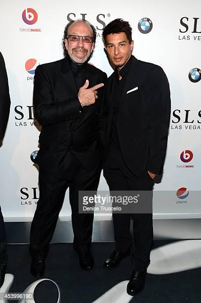Entertainment manager Bernie Yuman and Cirque du Soleil's Jamie King attend the SLS Las Vegas grand opening celebration at SLS Las Vegas on August 22...