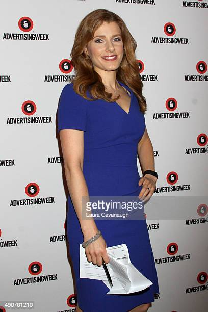 Entertainment Media Correspondent at CNBC Julia Boorstin poses at the Tim Armstrong 11 panel presented by AOL during Advertising Week 2015 AWXII at...