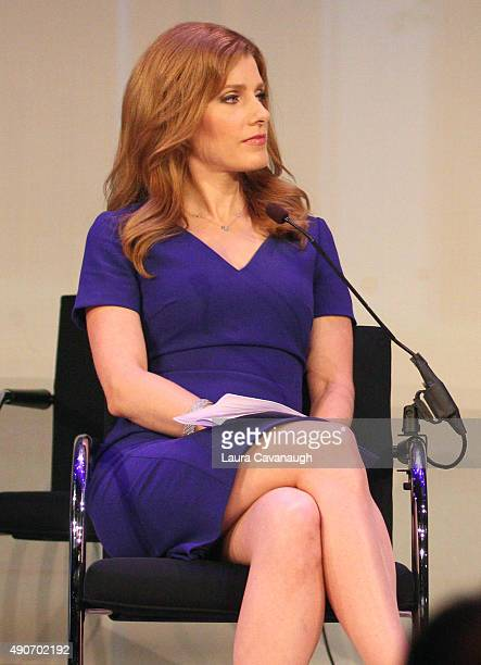 Entertainment Media Correspondent at CNBC Julia Boorstin speaks onstage at the Tim Armstrong 11 panel presented by AOL during Advertising Week 2015...