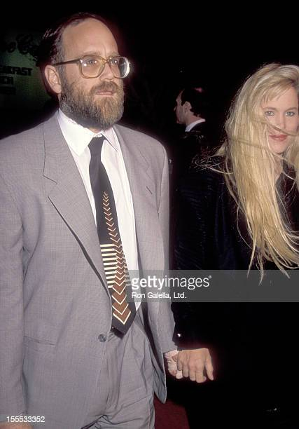 Entertainment mogul Ted Field and wife Susie Field attend the Edward Scissorhands Westwood Premiere on December 6, 1990 at Avco Center Cinemas in...