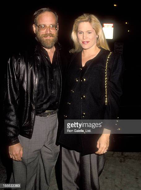 Entertainment mogul Ted Field and wife Susie Field on November 10, 1990 dine at Spago in West Hollywood, California.
